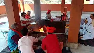 कोरेना वायरस को भगाने के लिए ताराचंडी कमेटी द्वारा विशेष हवन पूजन का आयोजन किया गया।