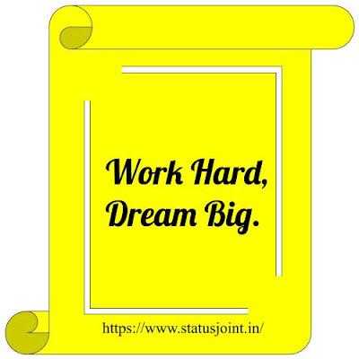 Work Hard Status