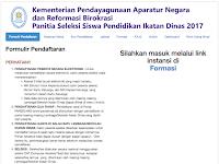 Fomulir Pendaftaran Reg.Panselnas.id 2018/2019