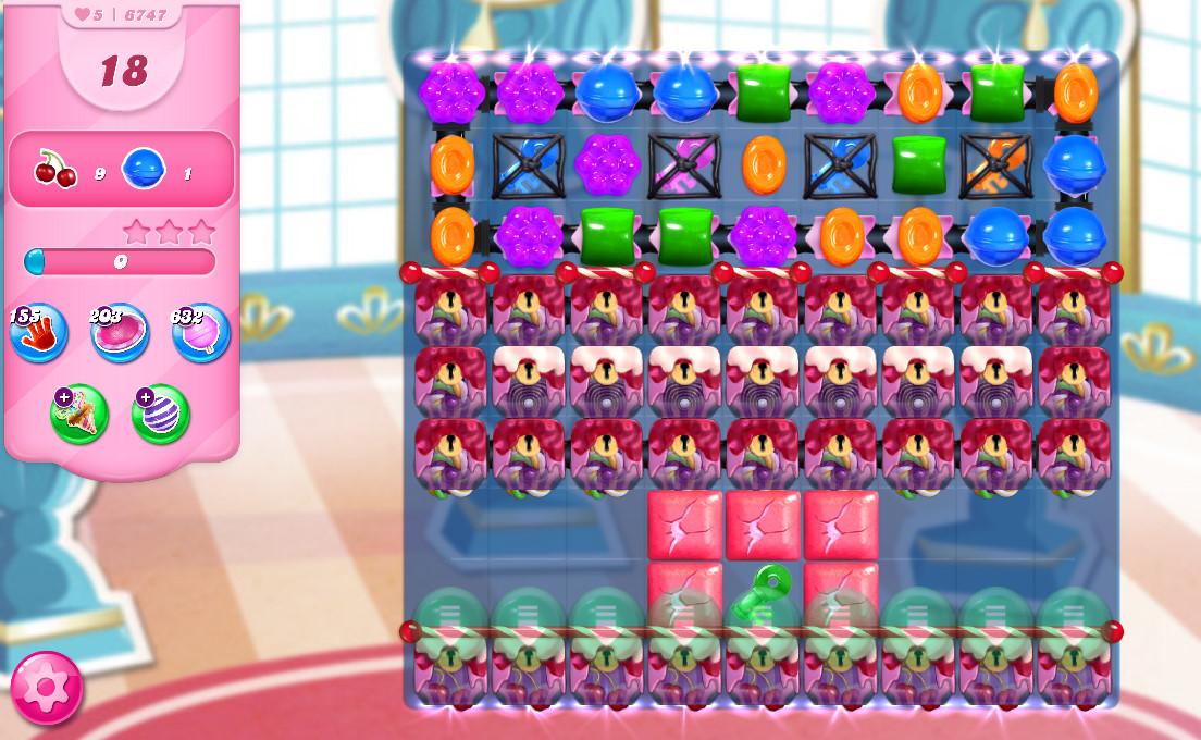 Candy Crush Saga level 6747