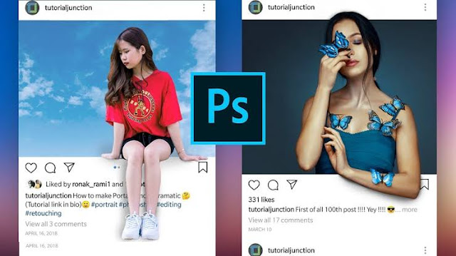 How to make Interesting Instagram Display by Photoshop?