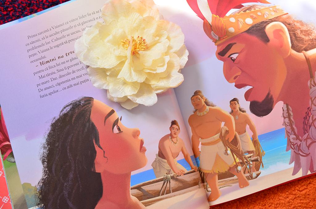 carte ilustrata vaiana biblioteca ilustrata disney editie de colectie