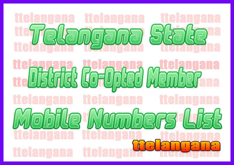Nizamabad District Co-Opted Member Mobile Numbers List in Telangana State