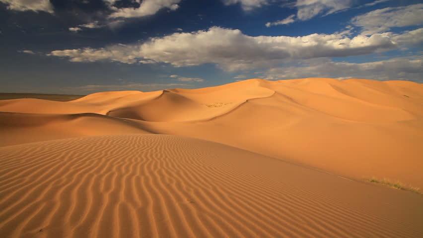 Песчаные дюны пустыни Гоби