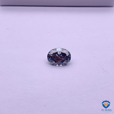 Grey-Color-Moissanite-Oval-faceted-Cut-Gemstone-Supplier