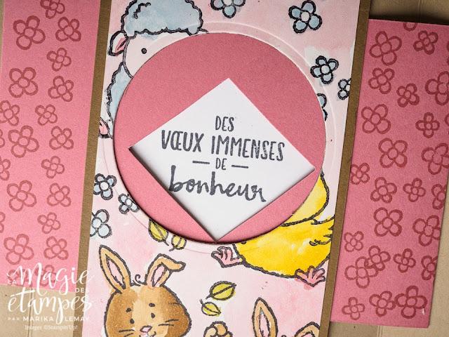 Carte wow qui bouge quand on l'ouvre avec le jeu Bienvenue à Pâques