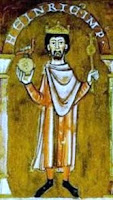 Henry IV Holy Roman Emperor, mosaic depicted the king holding a sphere and cross in his hands.
