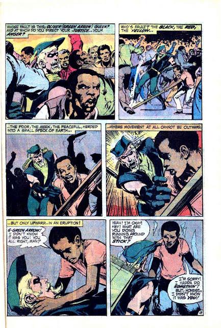 Green Lantern Green Arrow #87 dc comic book page art by Neal Adams