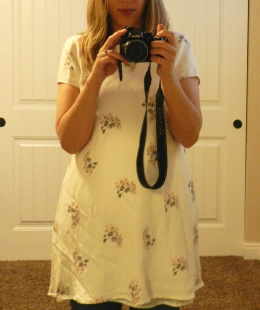 Thrifted Dress Make-Over- Floral Shirt with a Crochet Collar