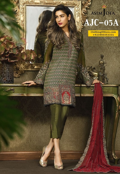 Asim Jofa Mysorie Chiffon Collection 2017 For Eid