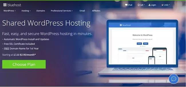 bluehost best web hosting wordpress