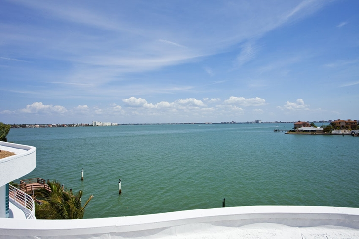 View from the Modern villa in Tampa Bay