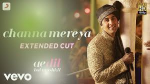 Channa Mereya song lyrics in Hindi
