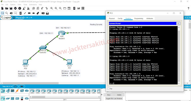 Cara Konfigurasi Routing Dynamic dengan Dua Router di Cisco Packet Tracer