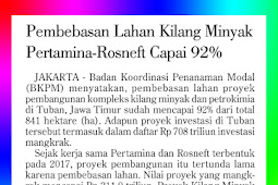 Pertamina-Rosneft Refinery Land Acquisition Reaches 92%