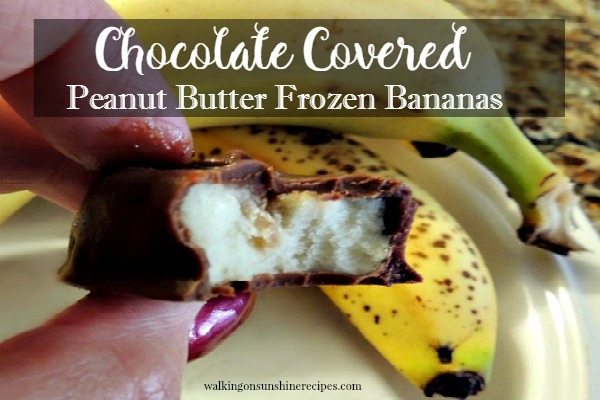 Chocolate Covered Peanut Butter Frozen Bananas from Walking on Sunshine.