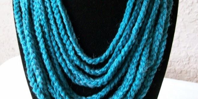 Como Crear Bisuteria. Tutoriales Bijoux.Collar Crochet