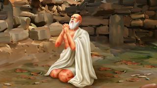 Jó orando, mesmo após seu corpo ficar coberto de feridas