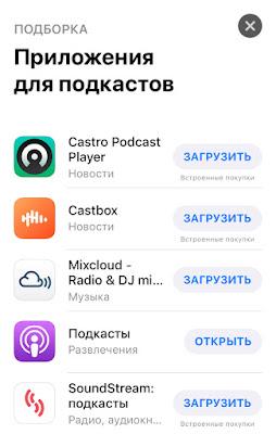 приложения для подкастов для айфона