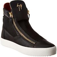 Giuseppe Zanotti Leather-Trim Mesh Sneaker