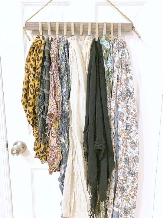 Hanging Scarf Organization for the closet