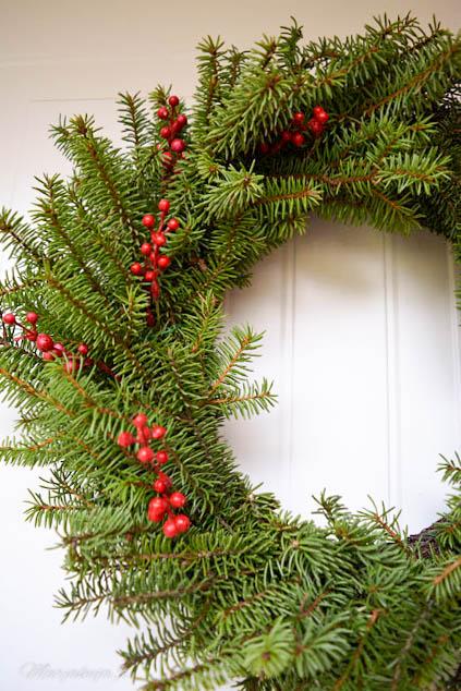 puutarhavaja joulu havukranssi ovi