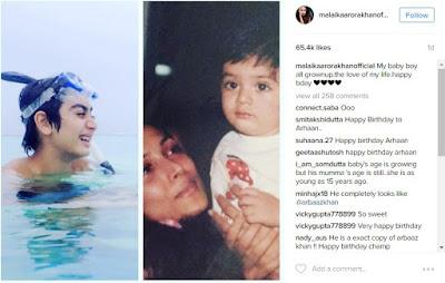 malaika-arhaan-birthday-wishes-on-Instagram