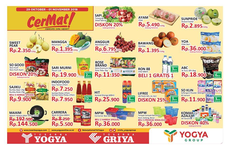 Yogya - Promo Katalog Cerdas & Hemat Periode 29 - 01 November 2018