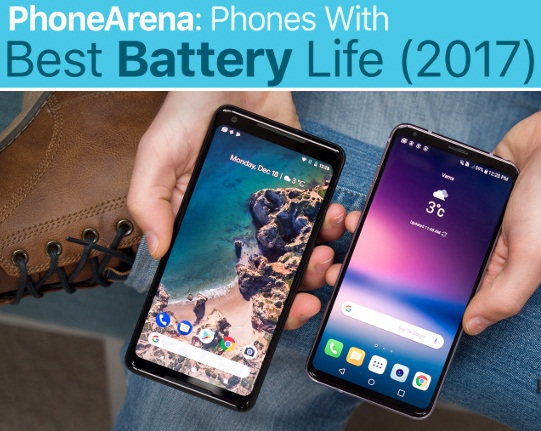Which phone has the best and Strongest battery life in 2017