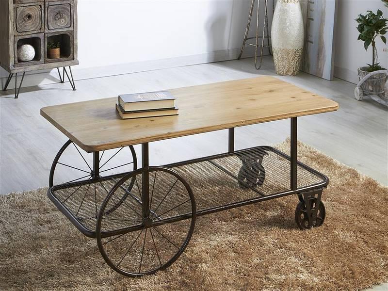 Muebles de forja 2018 - Mesa centro ruedas ...
