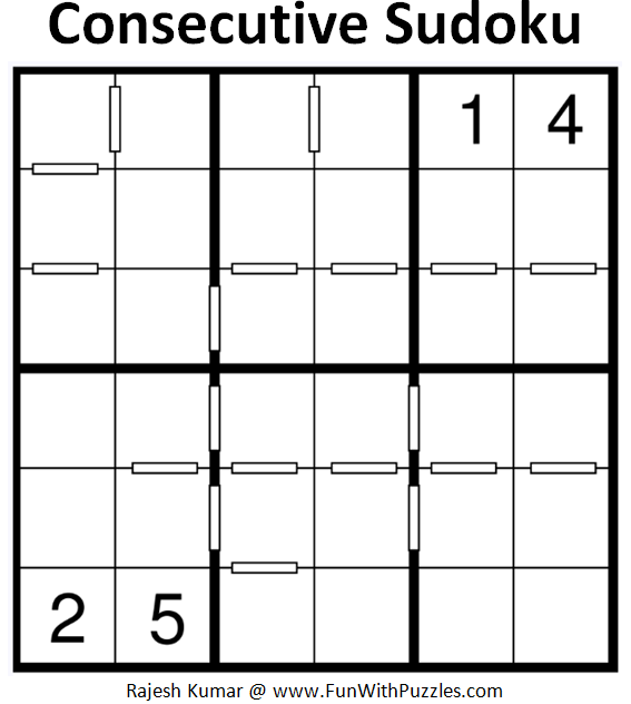 Consecutive Sudoku (Mini Sudoku Series #68)