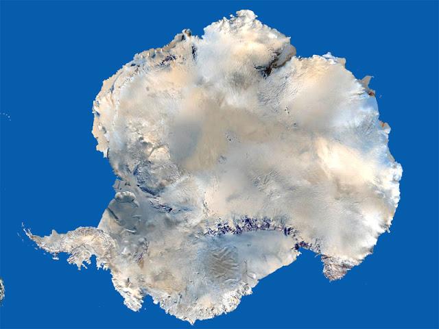 Gambar Peta Antartika tampak dari satelit