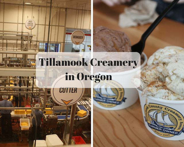 Family visit to Tillamook Creamery in Tillamook, Oregon.