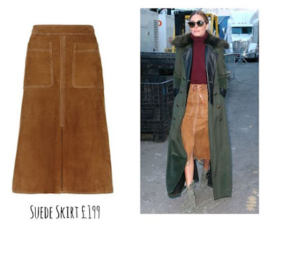 The Marks and Spencer Suede Skirt