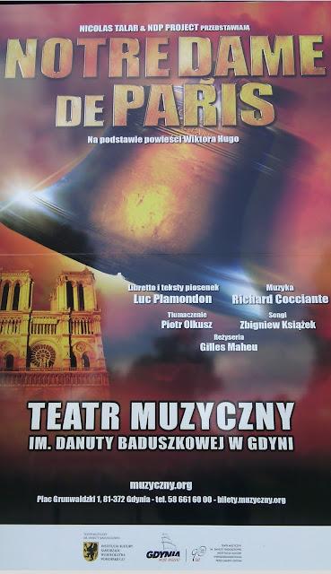 "musical ""Notre Dame de Paris"" w Gdyni"