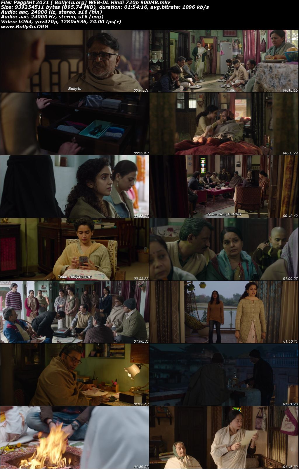 Pagglait 2021 WEB-DL 350Mb Hindi Movie Download 480p