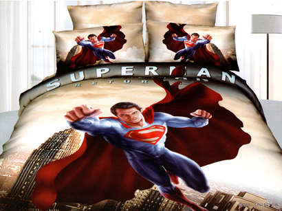 Sprei Satin Jepang Motif Superman Return