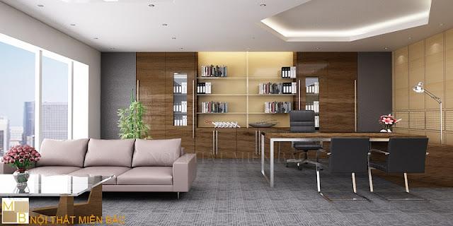 Thiết kế tủ tài liệu giám đốc cao cấp này có chất liệu gỗ cho những vị lãnh đạo trẻ trung