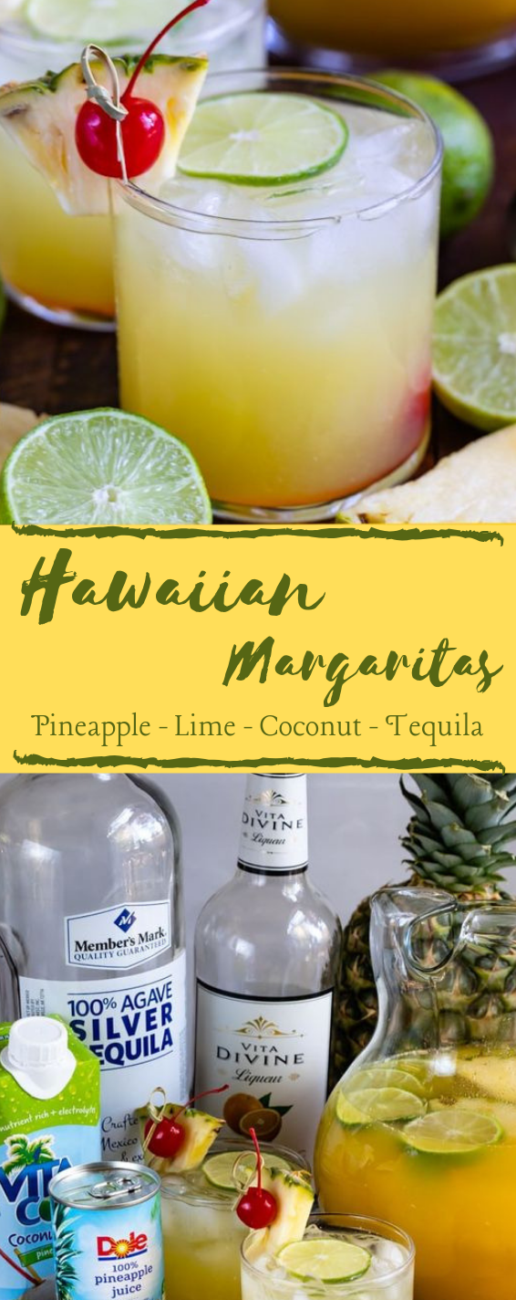 HAWAIIAN MARGARITAS #margaritas #drink #cocktail #ice #healhtydrink