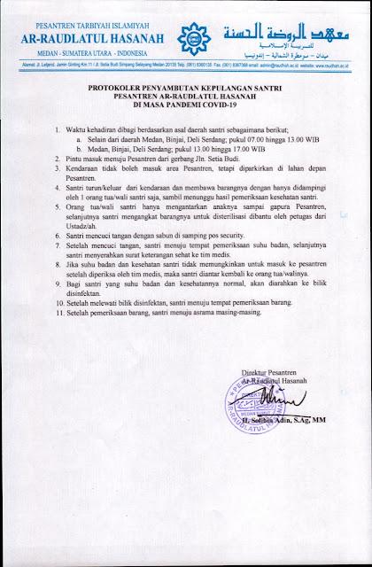 Protokol Raudlatul Hasanah