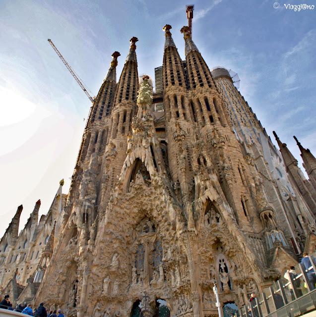 La Sagrada Familia una delle opere più note di Gaudi
