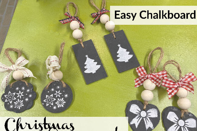Easy DIY Chalkboard Christmas Ornaments