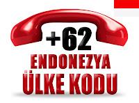 +62 Endonezya ülke telefon kodu