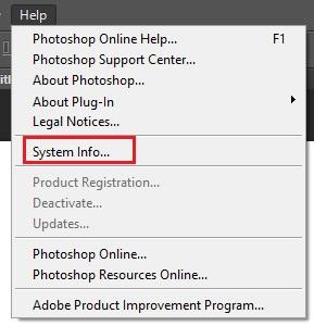 fungsi tool  photoshop cs6-menu help