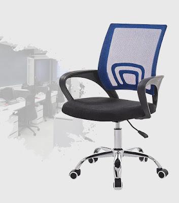 ghe van phong  2  e44c722a907d459eaabfdd9a77e9fd40 Ghế văn phòng chân xoay GLMV1   Màu xanh dương   Mẫu màu mới, đẹp, lạ