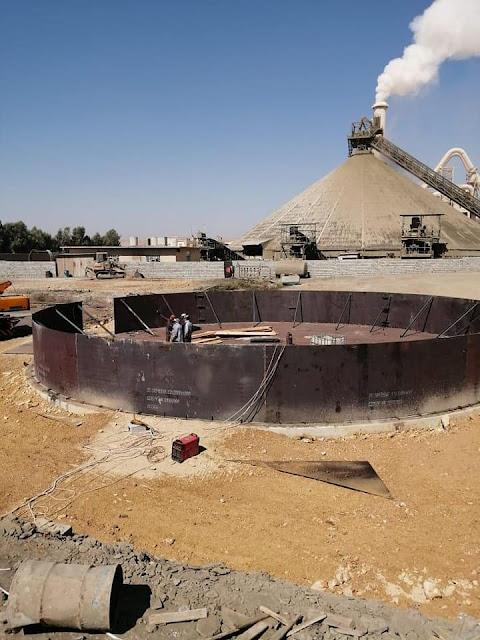 الشركة العامة للصناعات الفولاذية تواصل تنفيذ اعمال خزانات وقود لصالح شقيقتها شركة السمنت العراقية