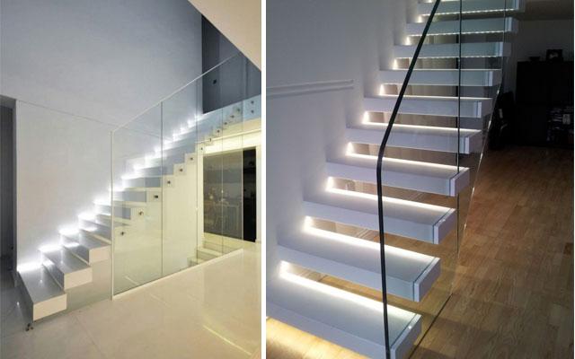 Marzua ideas para decorar escaleras con luz for Escaleras 8 pasos
