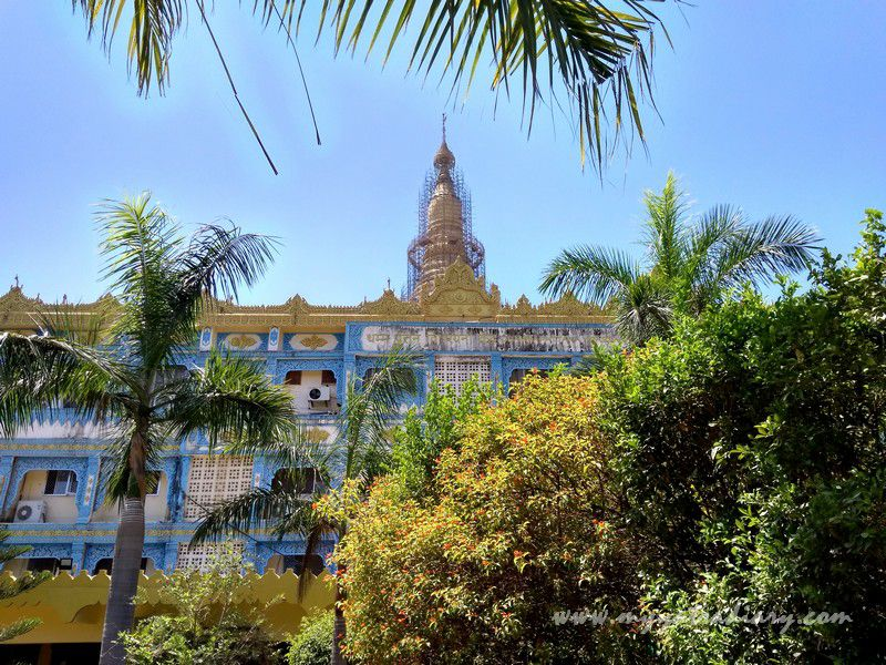 Global Vipassana Pagoda as seen from Dhamma Pattana Vipassana Meditation center, Gorai Mumbai