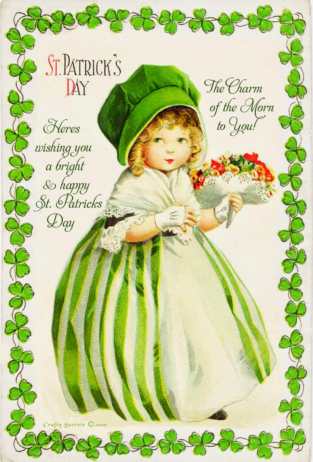 St Patrick Vintage Post Cards