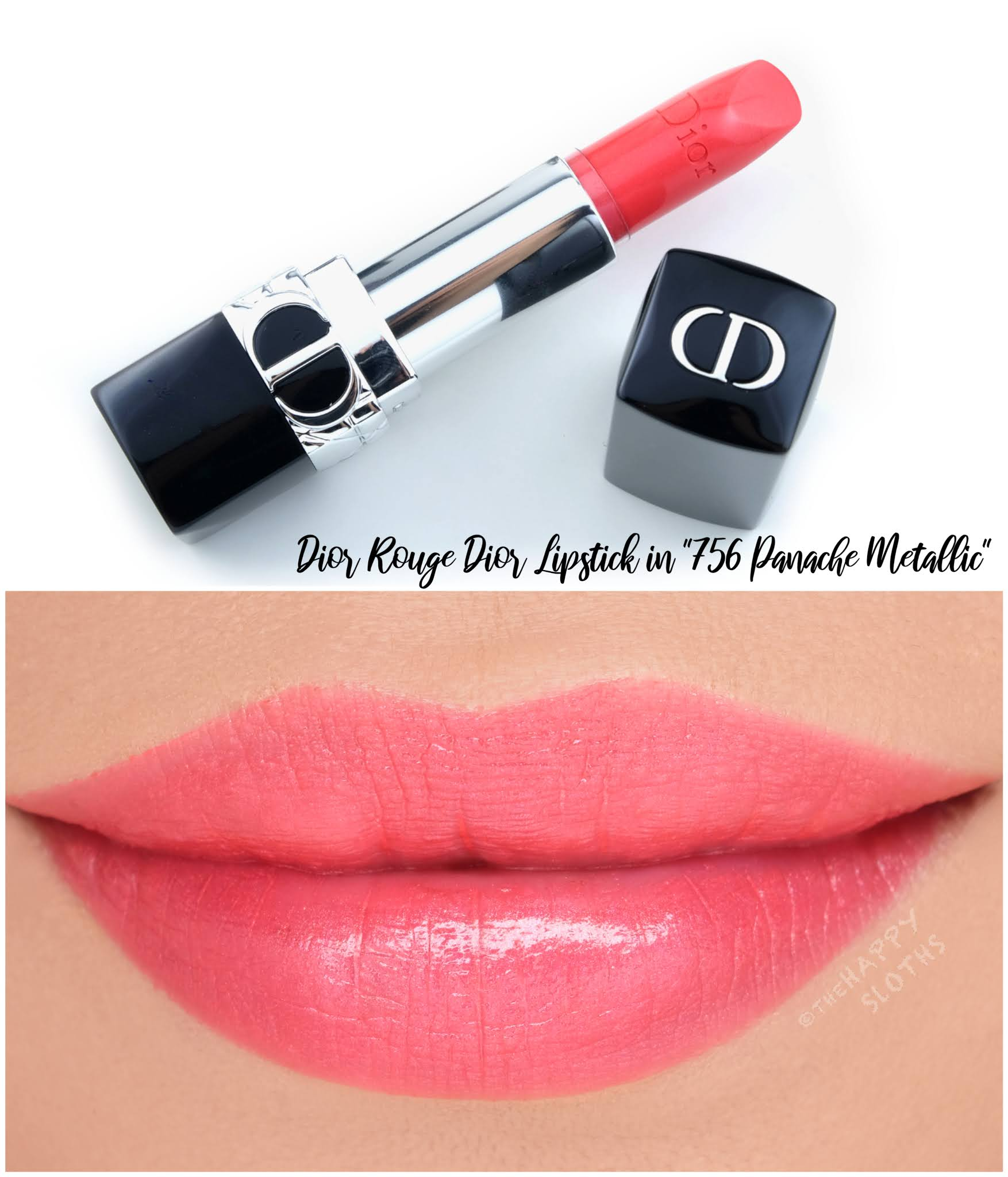 Dior | *NEW* Rouge Dior Refillable Lipstick in 756 Panache Metallic: Review and Swatches